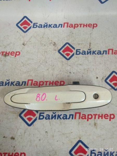 Ручка двери Mazda Mpv LW3W передняя левая 80