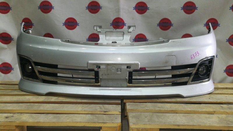 Бампер Nissan Wingroad NY12 HR15DE 2009 передний 6373