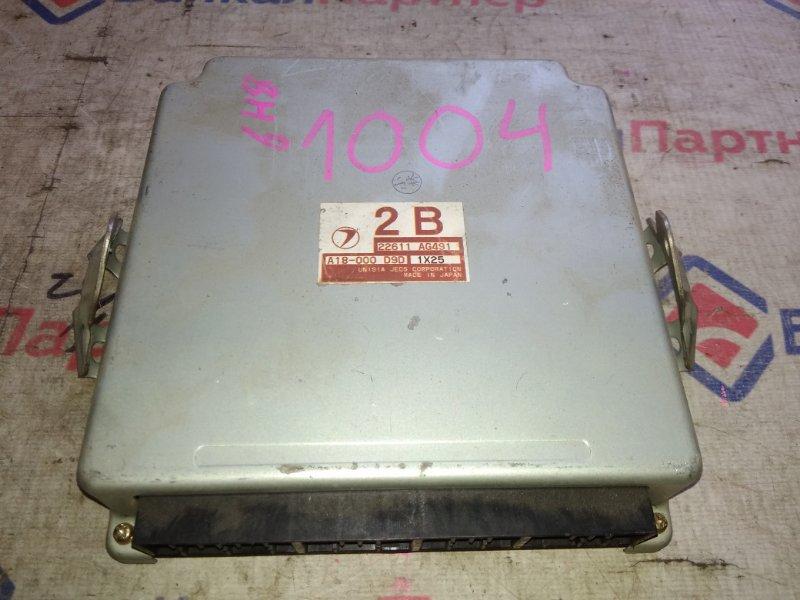 Блок управления двс Subaru Legacy Lancaster BH9 EJ25 22611 AG491