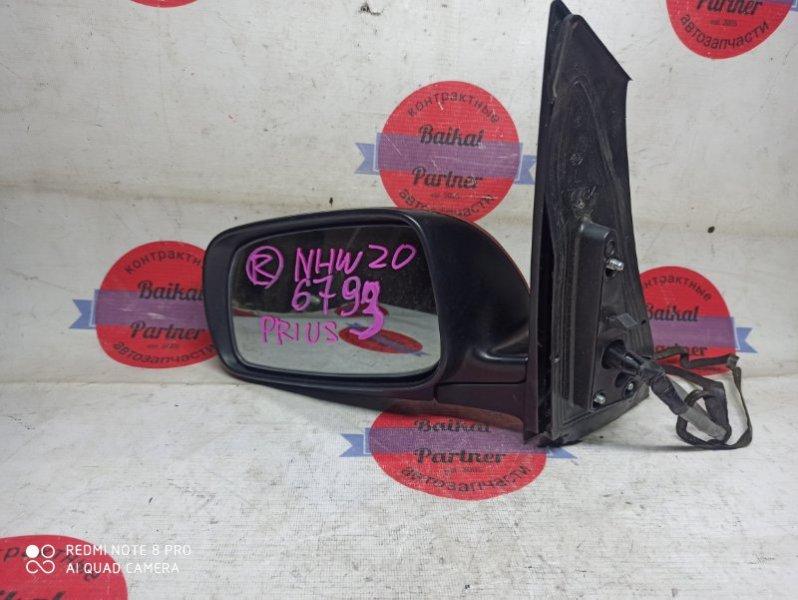 Зеркало Toyota Prius NHW20 левое 6793
