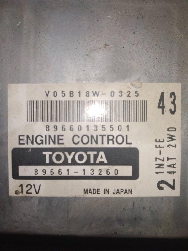 Блок efi Toyota Corolla Spacio NZE124N 1NZ-FE 2004 6724
