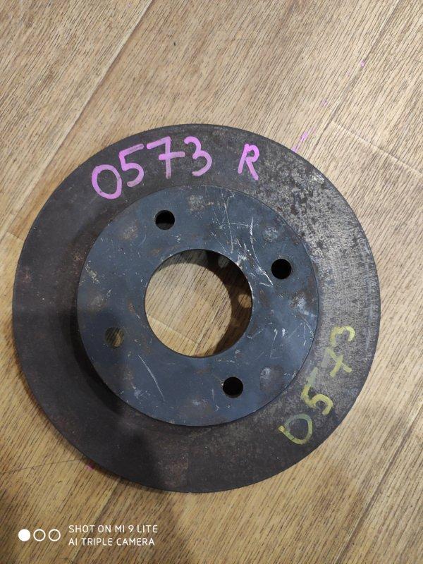 Тормозной диск Nissan Wingroad WFY11 QG15DE передний правый 0573