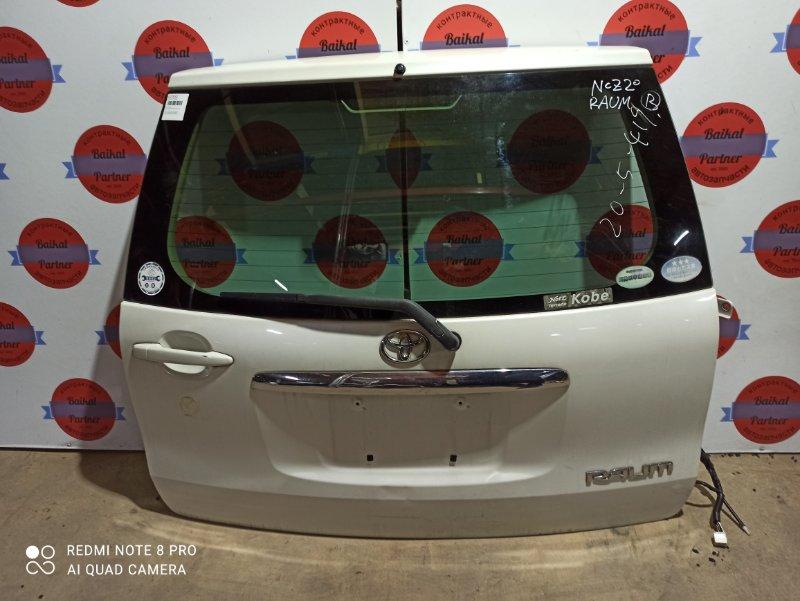 Дверь 5-я Toyota Raum NCZ20 1NZ-FE 2009 задняя