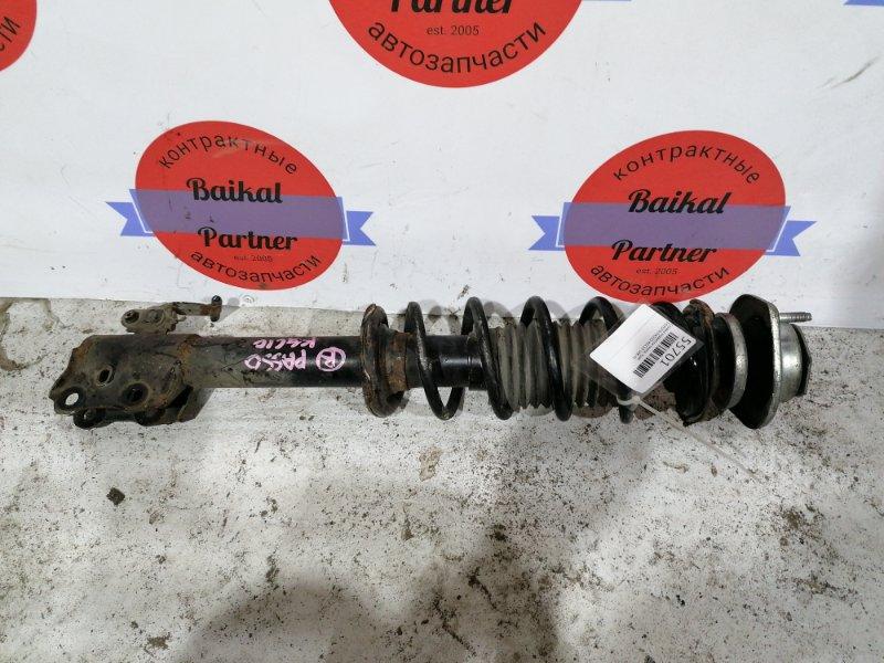 Стойка подвески Toyota Passo KGC10 1KR-FE передняя правая