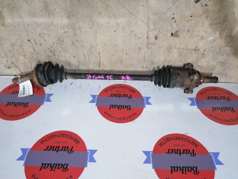 Привод Toyota Isis ZGM15W 2ZRFAE 2011.09 задний правый