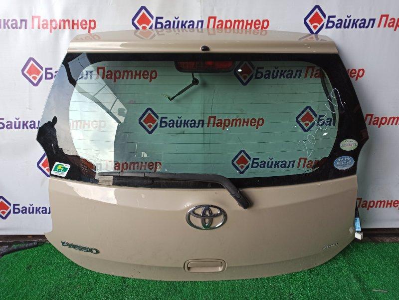 Дверь 5-я Toyota Passo KGC35 1KR-FE 2012