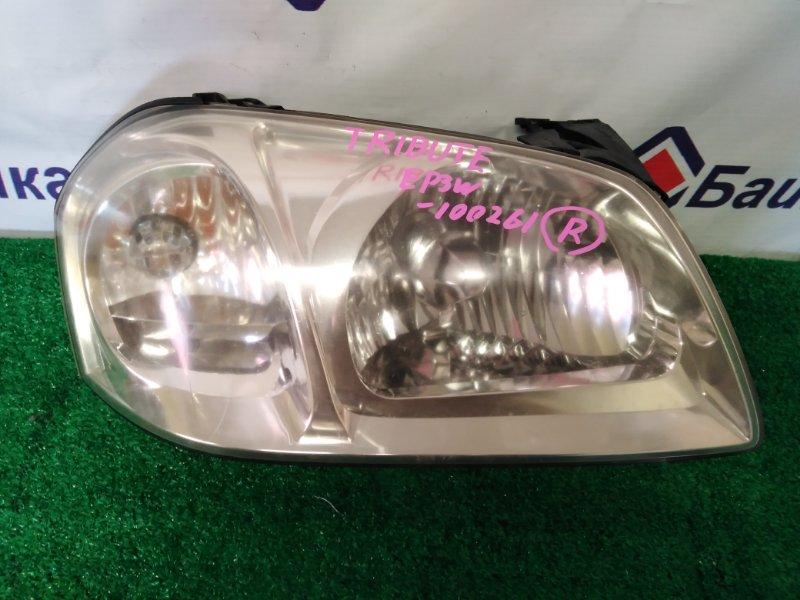Фара Mazda Tribute EP3W L3 2004 передняя правая 100-61970
