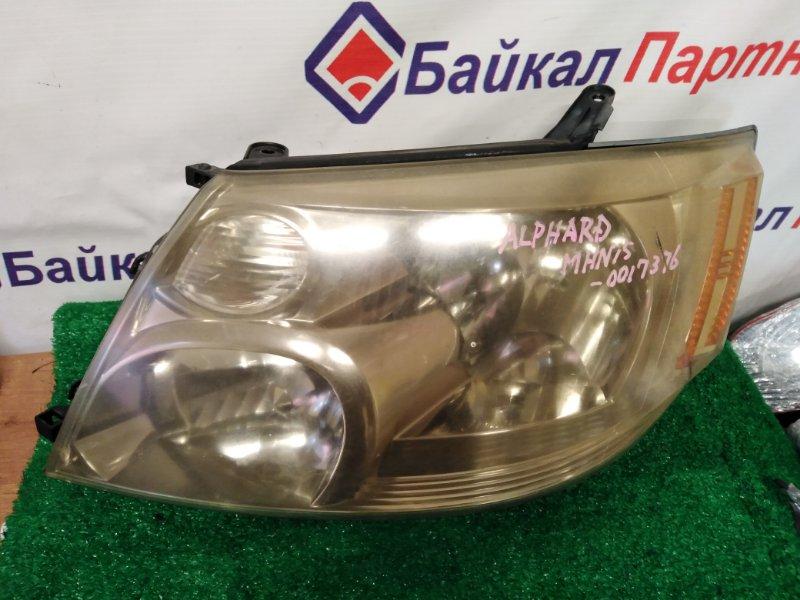 Фара Toyota Alphard MNH15W 1MZ-FE передняя левая 58-2