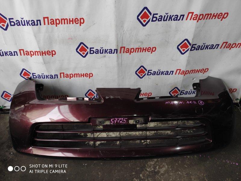 Бампер Nissan March AK12 CR12DE передний