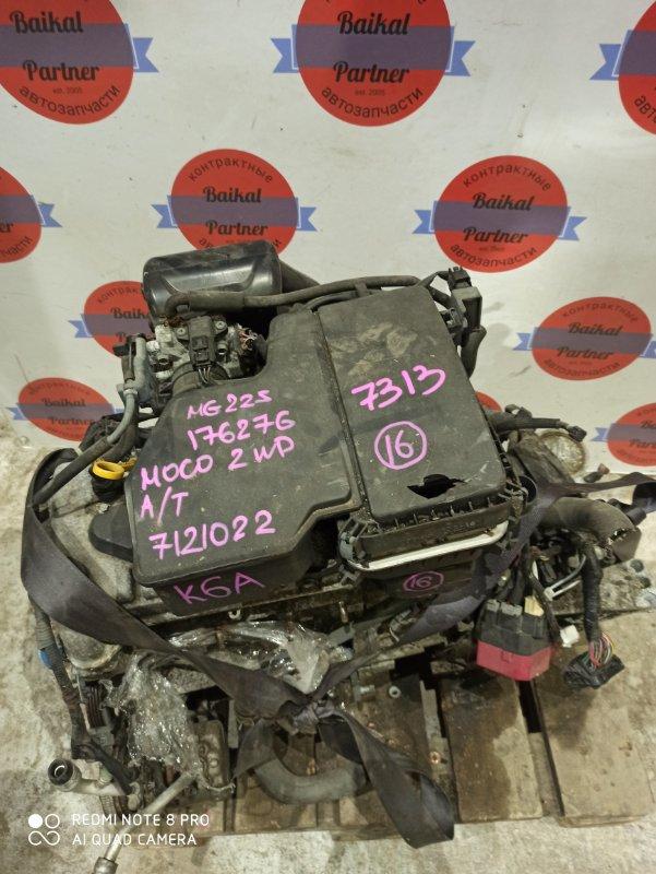 Двигатель Nissan Moco MG22S K6A 2006