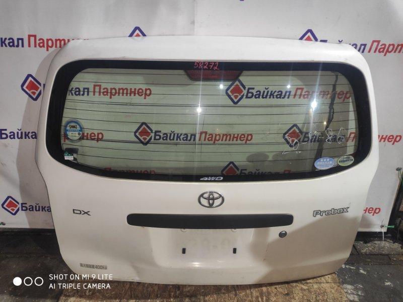 Дверь 5-я Toyota Probox NCP55V 1NZ-FE 2003 задняя