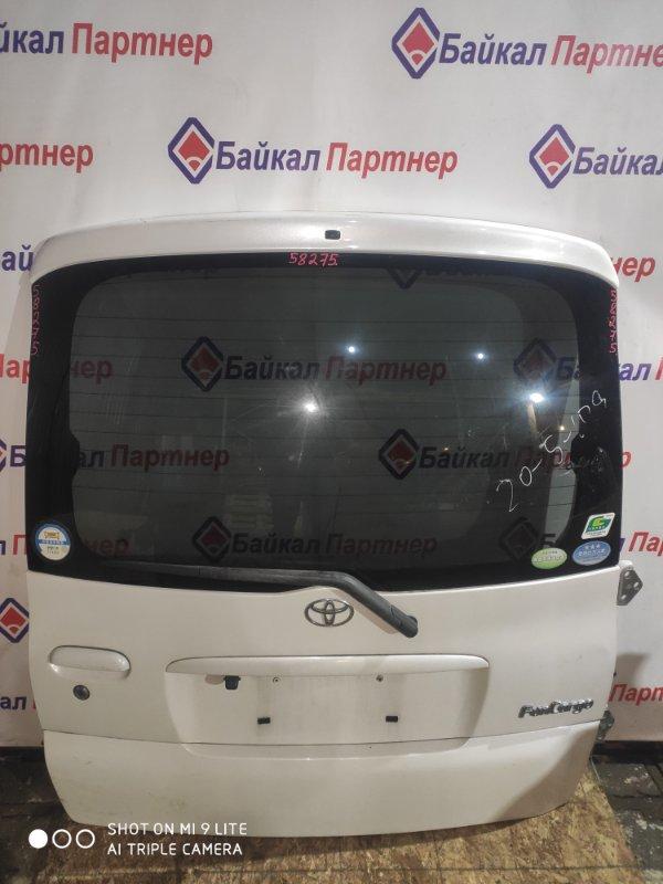Дверь 5-я Toyota Funcargo NCP20 2NZ-FE 2000 задняя