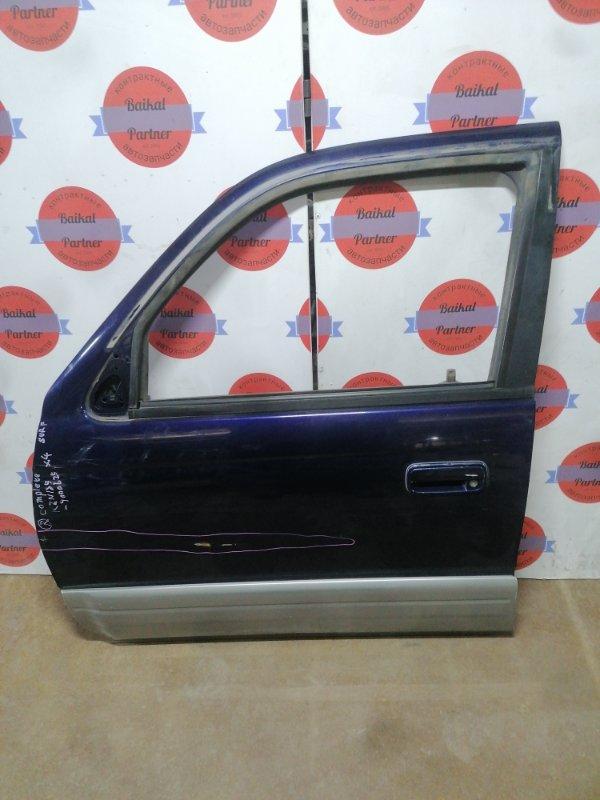 Дверь Toyota Hilux Surf KZN185W 1KZ-TE 10.1996 передняя левая