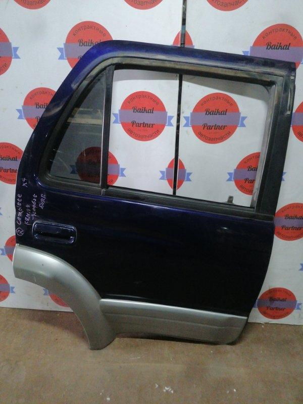 Дверь Toyota Hilux Surf KZN185W 1KZ-TE 10.1996 задняя правая