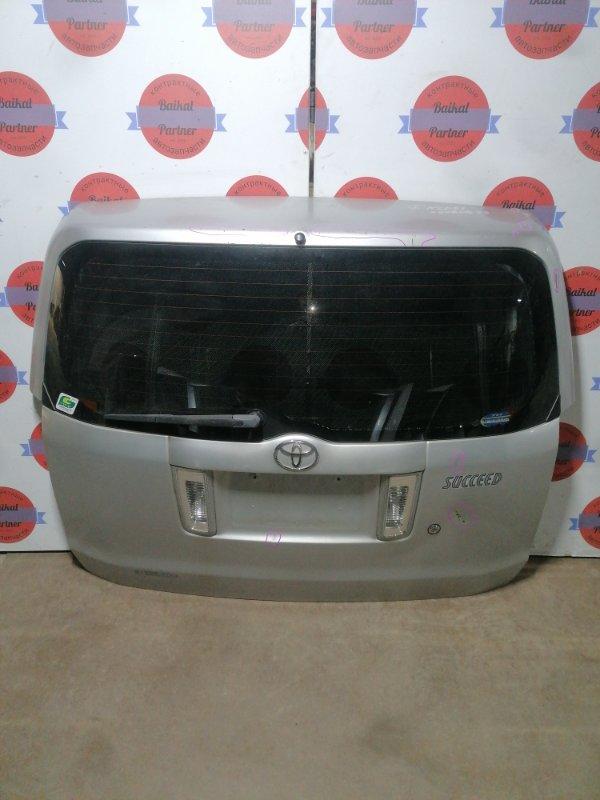 Дверь 5-я Toyota Succeed NCP51 1NZ-FE задняя