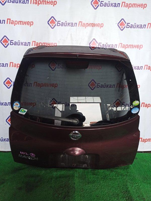 Дверь 5-я Nissan March AK12