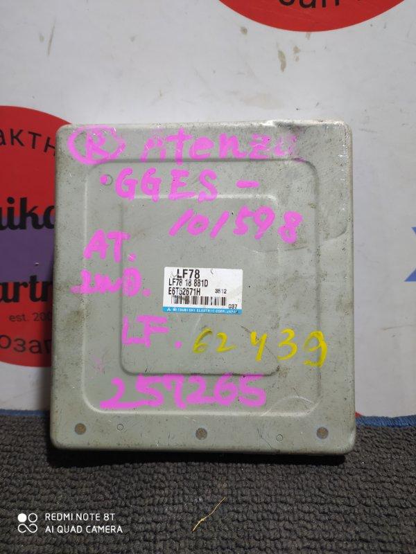 Блок управления двс Mazda Atenza GGES LF LF78