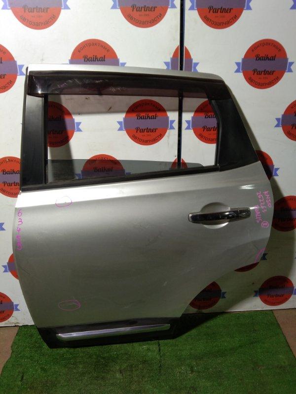Дверь Nissan Dualis (Qashqai) KNJ10 MR20DE задняя левая
