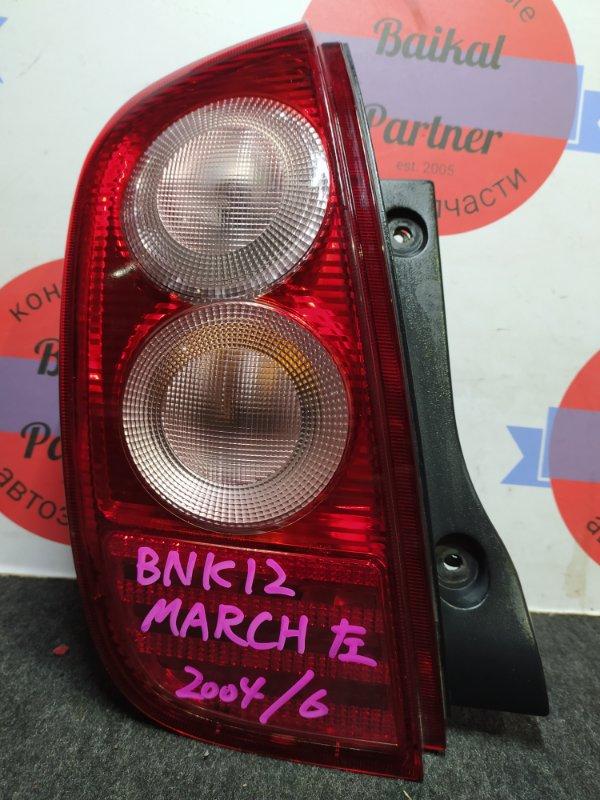 Стоп Nissan March BNK12 задний левый 49-94