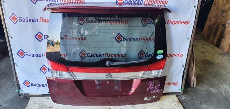 Дверь 5-я Suzuki Wagon R Solio MA15S K12B задняя