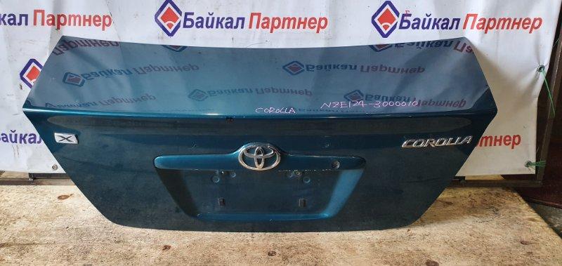 Крышка багажника Toyota Corolla NZE124G 1NZ-FE 2000 задняя