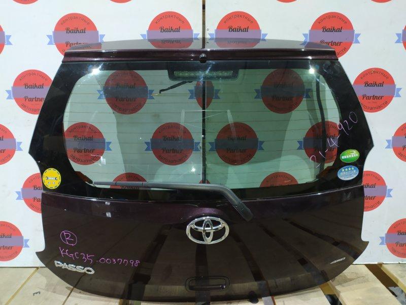 Дверь 5-я Toyota Passo KGC35 1KR-FE