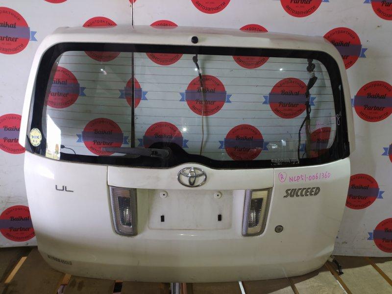 Дверь 5-я Toyota Succeed NCP51 1NZ-FE 2004