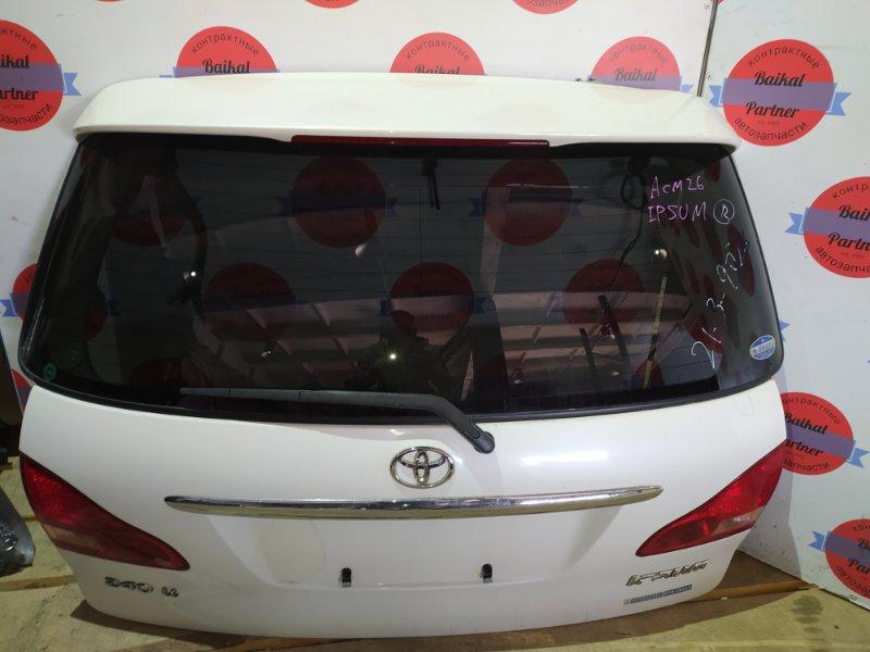 Дверь 5-я Toyota Ipsum ACM26 2AZ-FE