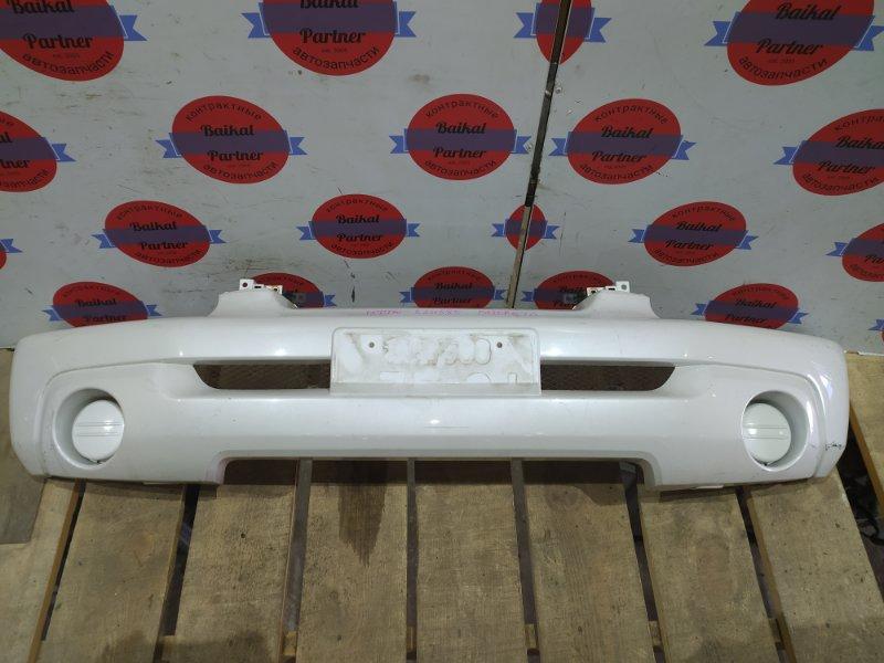 Бампер Mitsubishi Pajero Io H77W 4G94 2002 передний