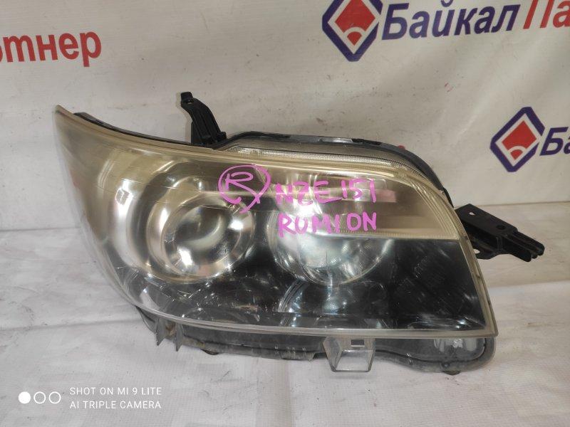 Фара Toyota Corolla Rumion NZE151N 1NZ-FE 2008 передняя правая 12-540