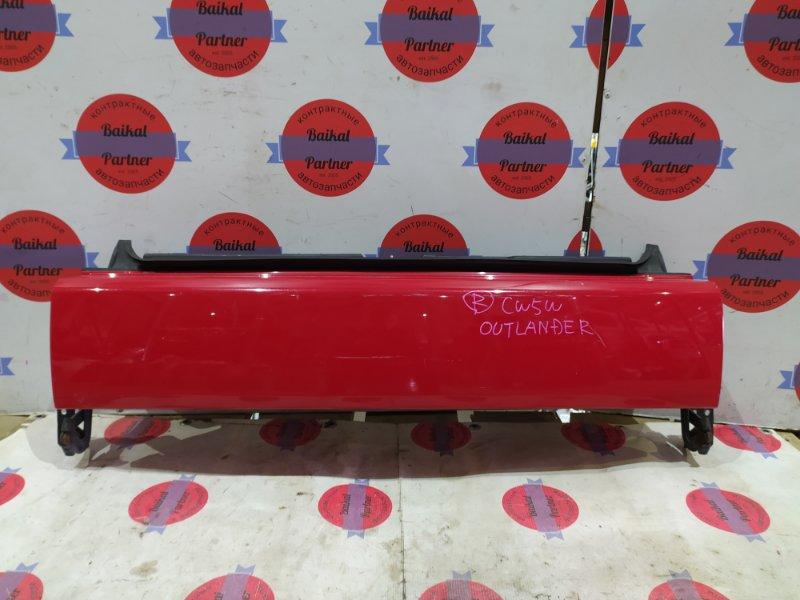 Крышка багажника Mitsubishi Outlander CW5W 4B12 задняя