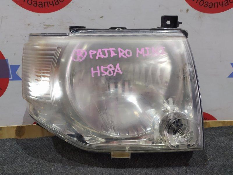 Фара Mitsubishi Pajero Mini H58A 4A30T передняя правая 100-37007