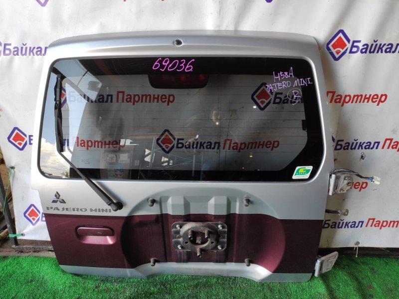 Дверь 5-я Mitsubishi Pajero Mini H58A 4A30T задняя