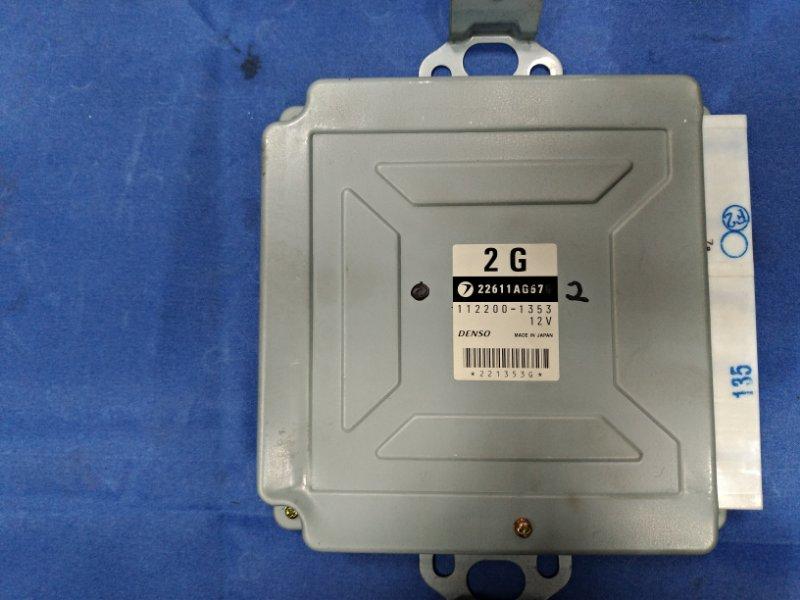 Блок управления двс Subaru Forester SG5 EJ205 2002