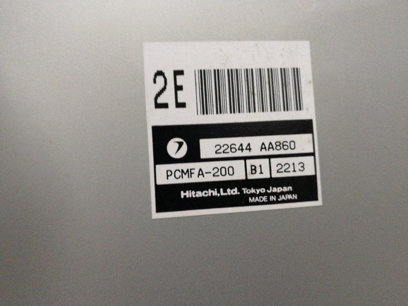 Блок управления двс Subaru Forester SG5 EJ202DXUAE 2002