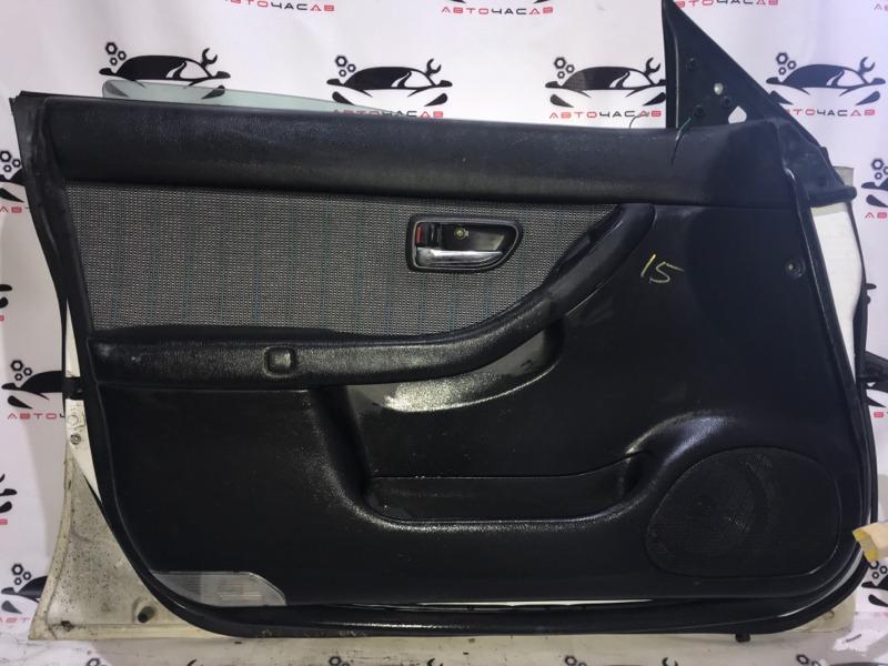 Обшивка дверей Subaru Legacy B4 BE5 EJ20 1999 передняя левая