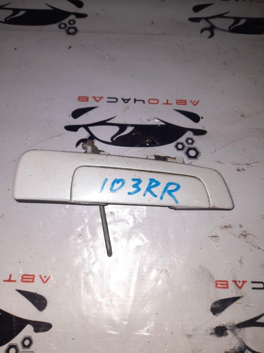 Ручка двери внешняя Mitsubishi Pajero Io H76W 4G93 1999 задняя правая