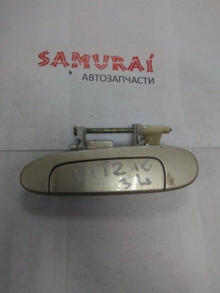 Ручка двери внешняя Toyota Vitz SCP10 передняя левая