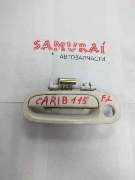 Ручка двери внешняя Toyota Carib AE115 передняя левая