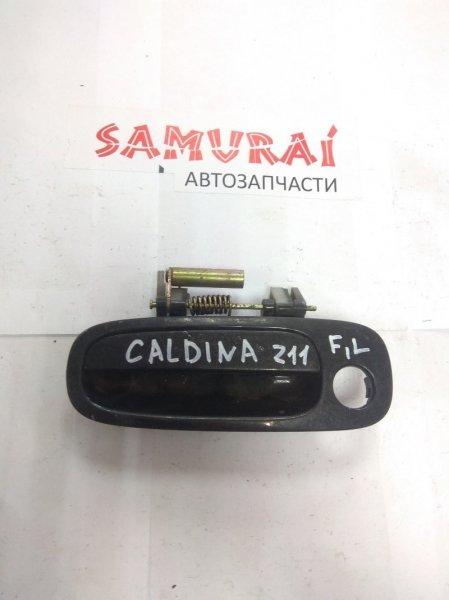Ручка двери внешняя Toyota Caldina AT210 передняя левая