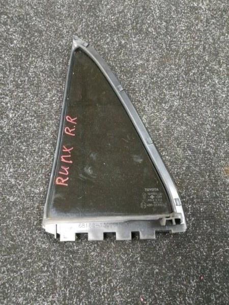 Форточка двери Toyota Allex NZE121 задняя правая