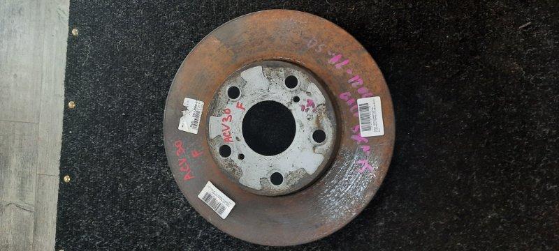 Тормозной диск Toyota Camry ACV30 2AZFE передний