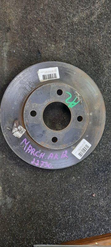 Тормозной диск Nissan March AK12 передний