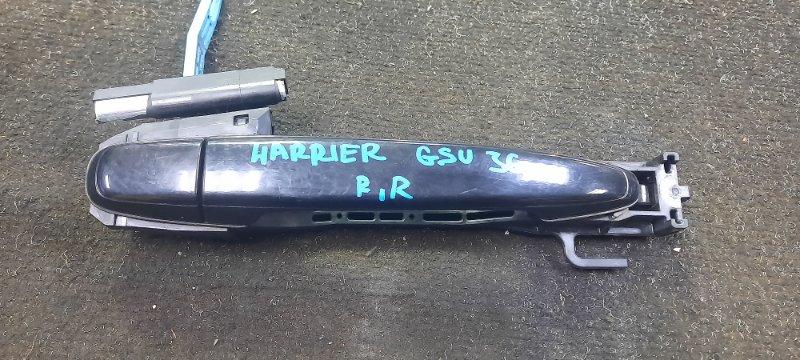 Ручка двери внешняя Toyota Harrier GSU36-0001514 2GRFE 2006 задняя правая