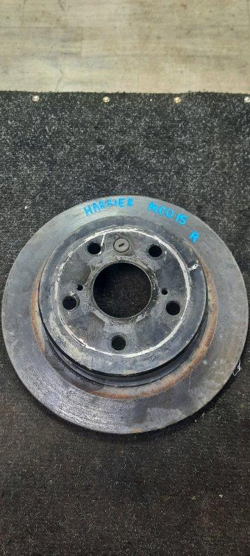 Тормозной диск Toyota Harrier MCU15-0304266 1MZFE 2002 задний
