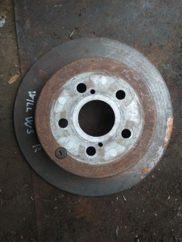 Тормозной диск Toyota Will Vs ZZE122 задний
