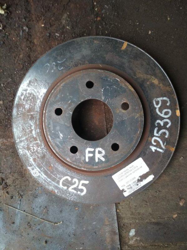 Тормозной диск Nissan Serena C25 передний