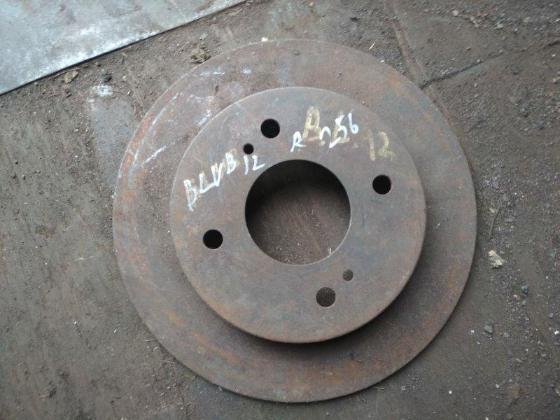 Тормозной диск Nissan Bluebird U12 задний