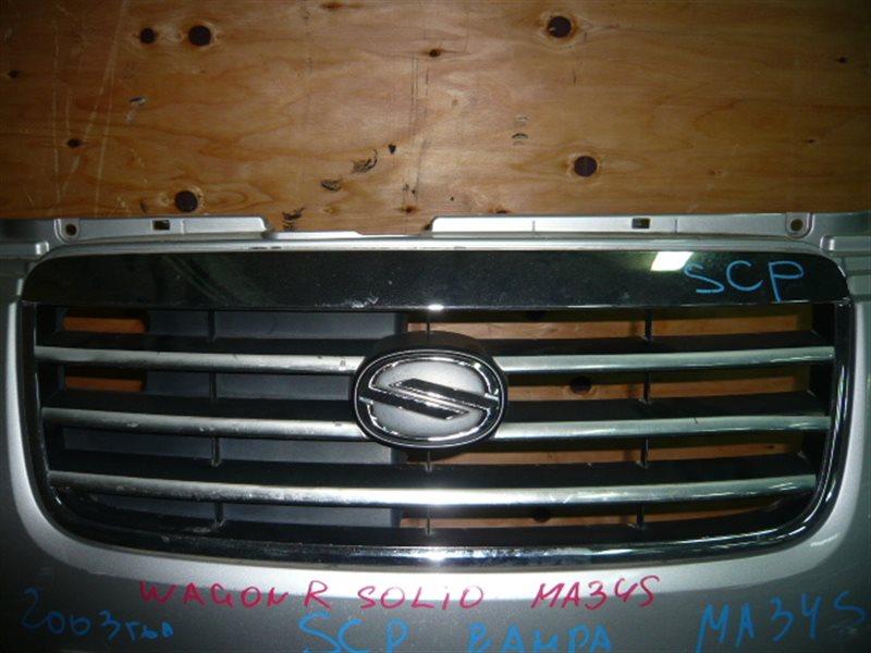 Решетка радиатора Suzuki Wagon R Solio MA34S передняя