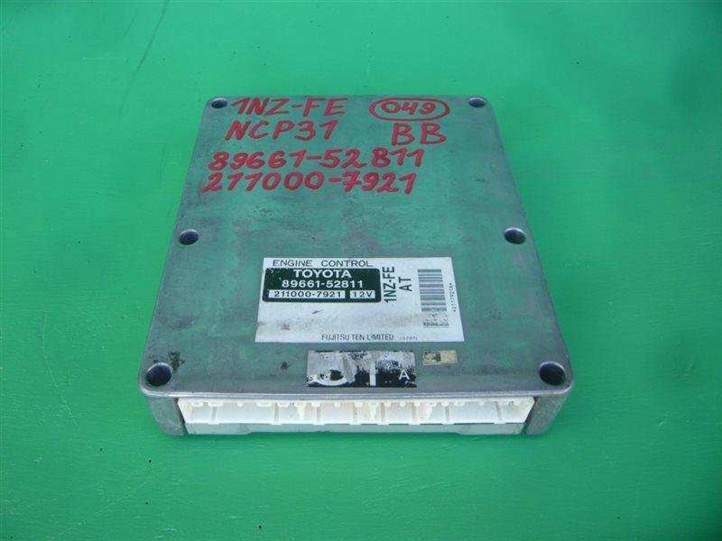 Блок управления efi Toyota Bb NCP31 1NZ-FE